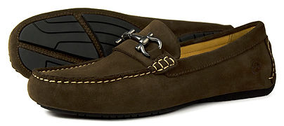 Roma II Brown Suede Driving Loafer Orca Bay