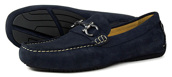 Roma II Navy Suede Driving Loafer