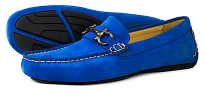Roma II Royal Blue Suede Driving Loafer Orca Bay
