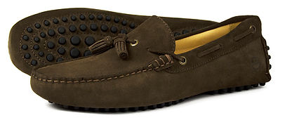 Monaco Brown Suede Driving Loafer Orca Bay