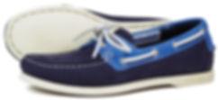 Orca Bay Womens Sandusky Washable Leather Deck Shoe in Indigo Blue