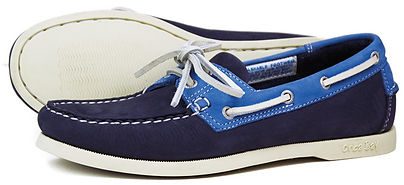 Orca Bay Womens Sandusky Washable Leather Deck Shoe in Indigo Blue