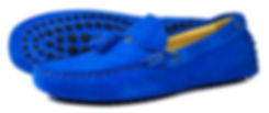 Monaco - Royal Blue Orca Bay Suede Loafer Driving Shoe