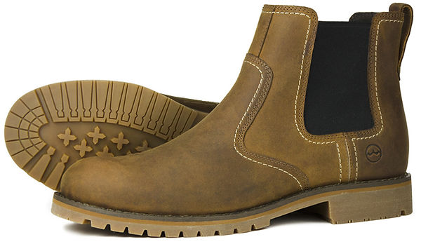 Exmoor Sand Leather Mens Chelsea Walking Boot