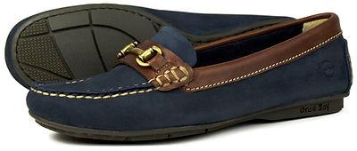 Orca Bay Verona Navy Oak Leather driving shoe