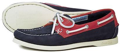 Womens Sandusky White Sole Deck Shoe in Indigo Berry Washable