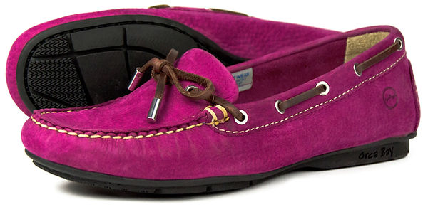 Orca Bay Ballena Deep Pink Leather Washable Driving Loafer