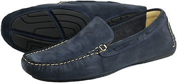 Silverstone Navy Suede Leather Orca Bay Driving Loafer