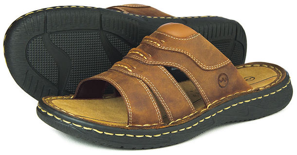 Moorea Sand Orca Bay Mens Leather Sandal