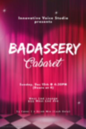 BADassery Cabaret Poster Official Dec201