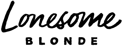 Lonesome Blonde Logo - RBG_Word Mark Bla