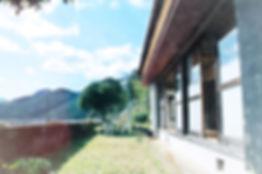 和歌山県田辺市本宮町のカフェボヌールの古民家民宿・ゲストハウス「山水月」。熊野本宮大社