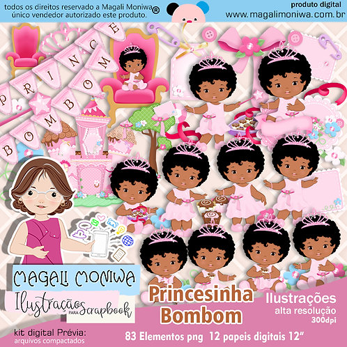 Princesinha Bombom Kit Digital para Scrapbook