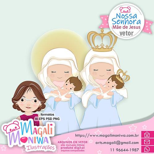 Nossa Senhora Mae de Jesus Vector