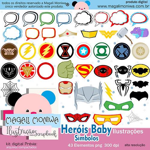 Heróis Baby símbolos kit digital