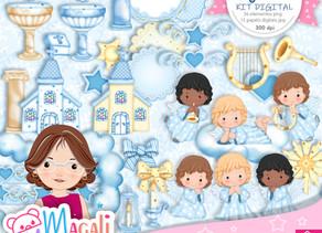 Anjinho Azul Kit Digital Lançamento!!