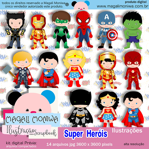 Super Herois kit digital