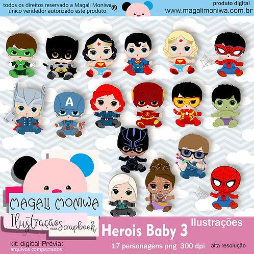 Heróis Baby 3 kit digital