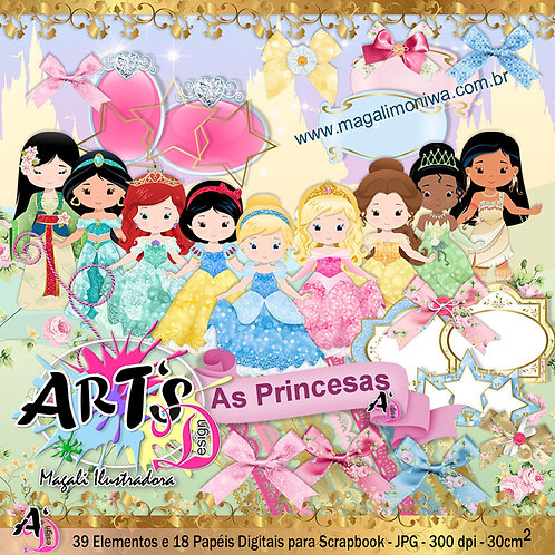 KIT DIGITAL AS PRINCESAS
