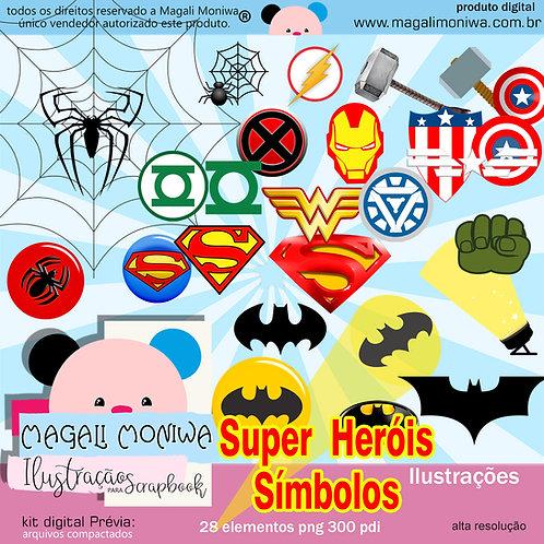 Heróis Símbolos Kit digital