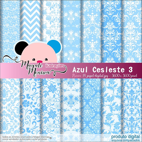 KIT PAPEL DIGITAL AZUL CELESTE 3