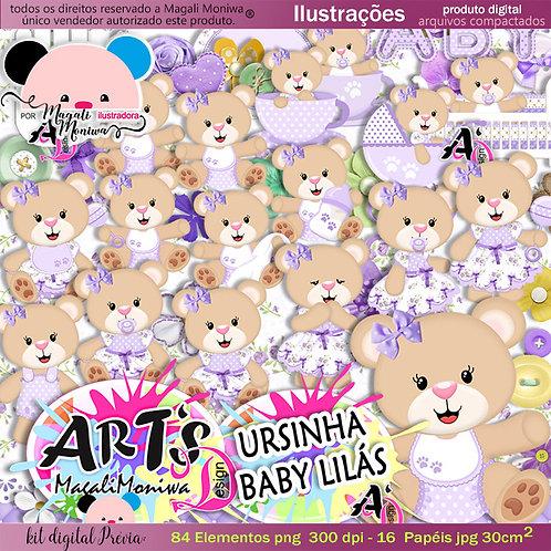 URSINHA BABY LILÁS kit digital