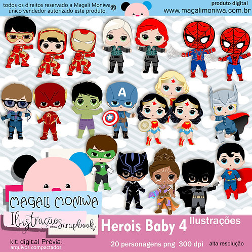Heróis Baby 4 kit digital