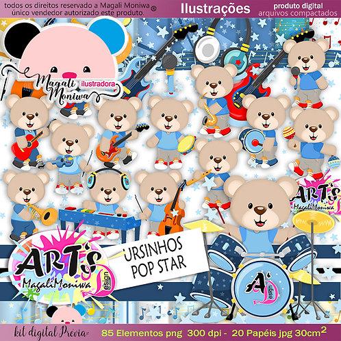 URSINHO POP STAR kit digital