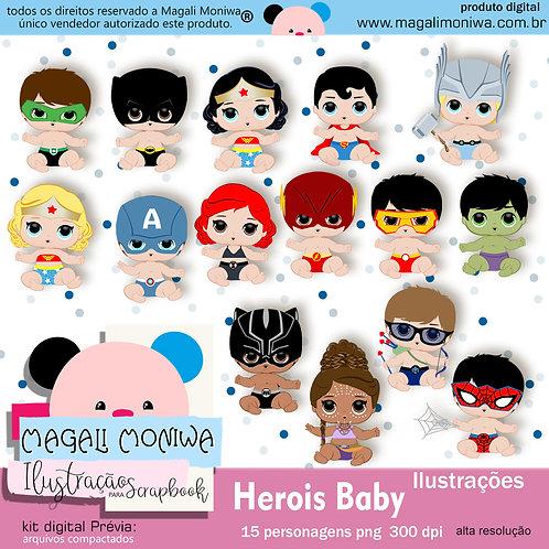 Heróis Baby kit digital