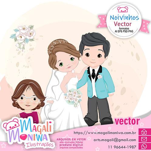Noivinhos kit digital vector
