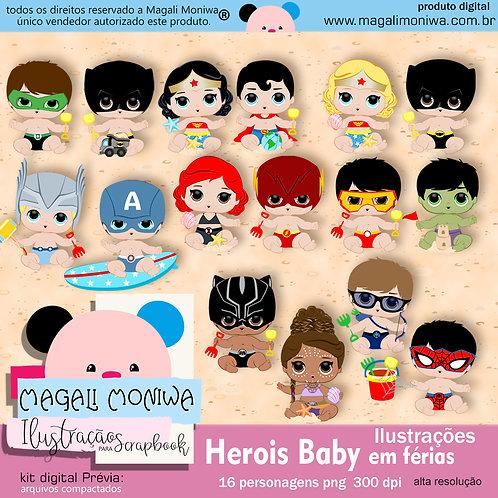 Heróis Baby em férias kit digital