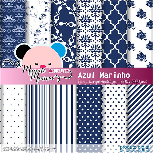 KIT PAPEL DIGITAL AZUL MARINHO