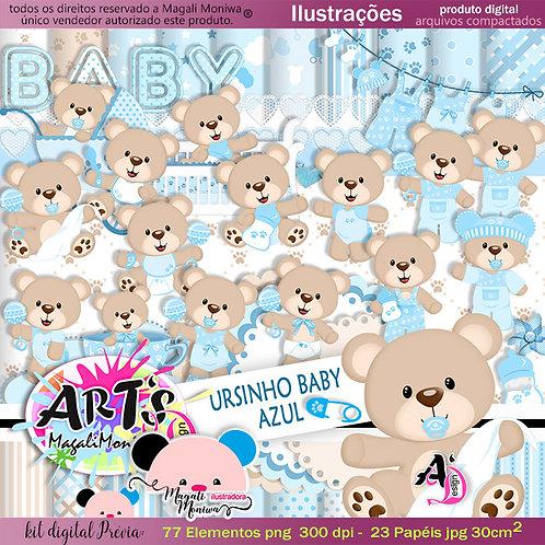 URSINHO BABY AZUL kit digital