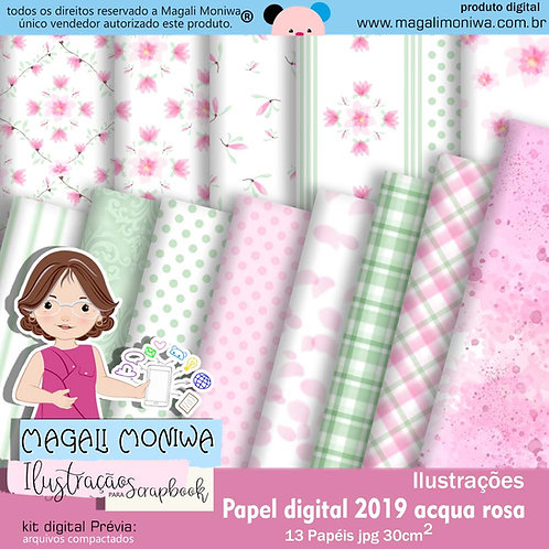 Papel Digital Acqua Rosa