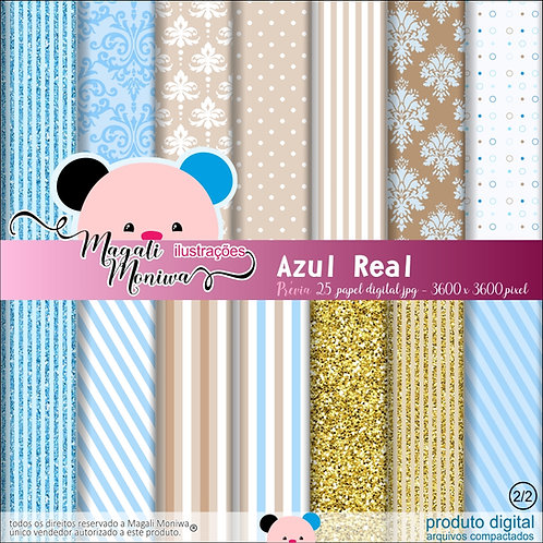 KIT PAPEL DIGITAL AZUL REAL