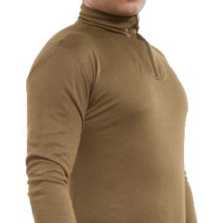 20065 - Roll neck quarter zip long sleeve thermal undershirt