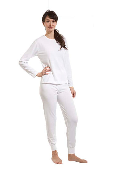 20248 - Crew neck long sleeve knitted thermal undershirt