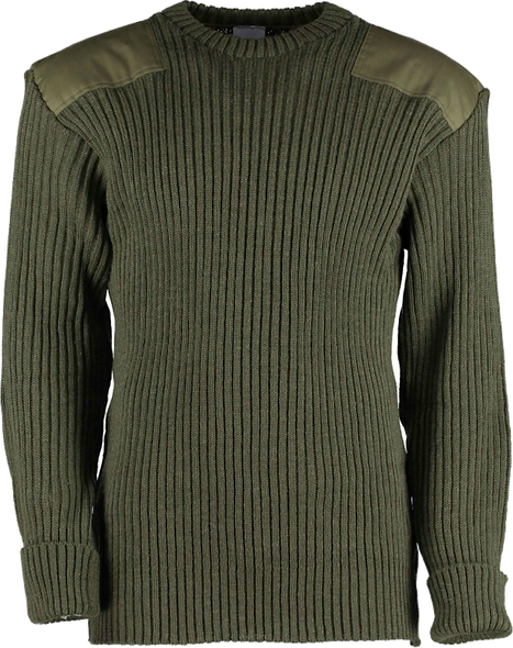 9024 -Woolly Pully Crew Neck With Patches