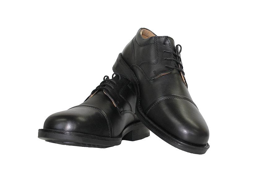 Black Kensignton All Leather Oxford shoe