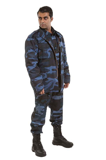 20408 Zipped front Camouflage winter jacket
