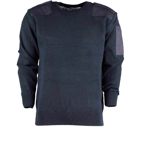 78712 Crew Neck Jumper With Elbow and Shoulder patches