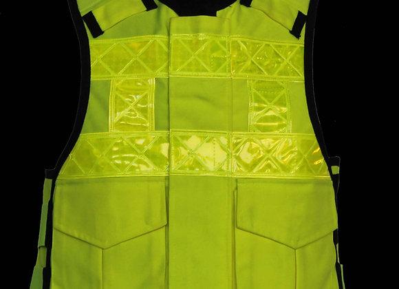 85072 - HI-VIS Zip fronted police style vest