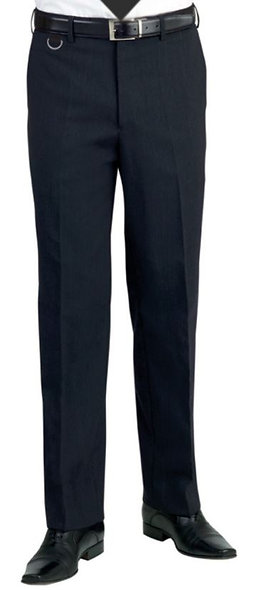 Mens Flat Front Trousers