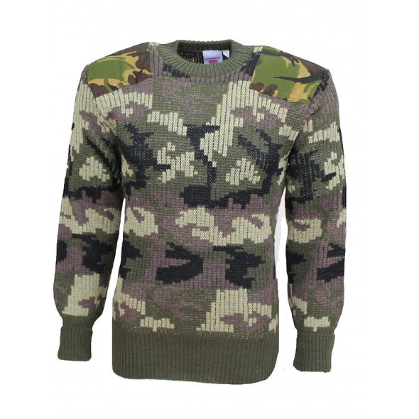 33104- Woodland Camouflage Woolly Pully