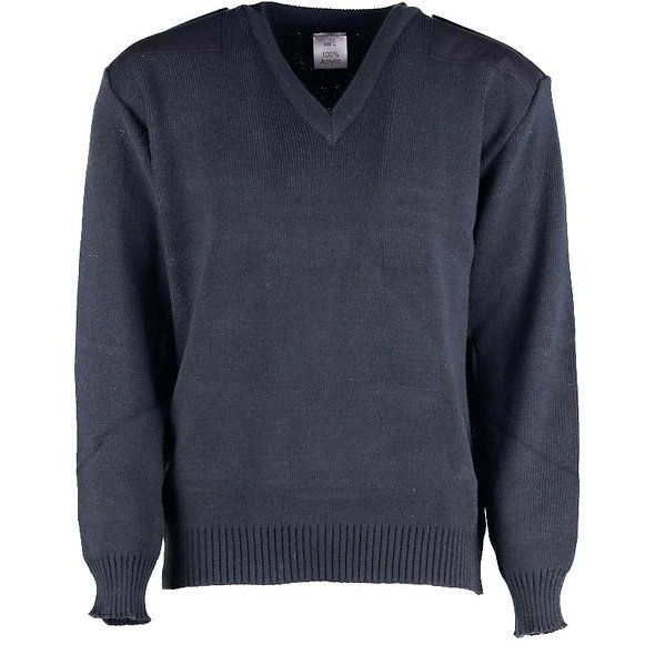 11605 - Medium-weight vee neck sweater