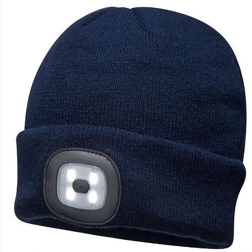 Beanie with Rechargeable Light