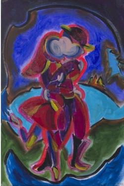 Hug, 60x40cm, acrylic on canvas (c)