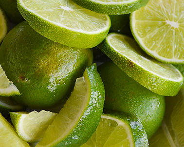 Photo of cut limes by Yvette Smith