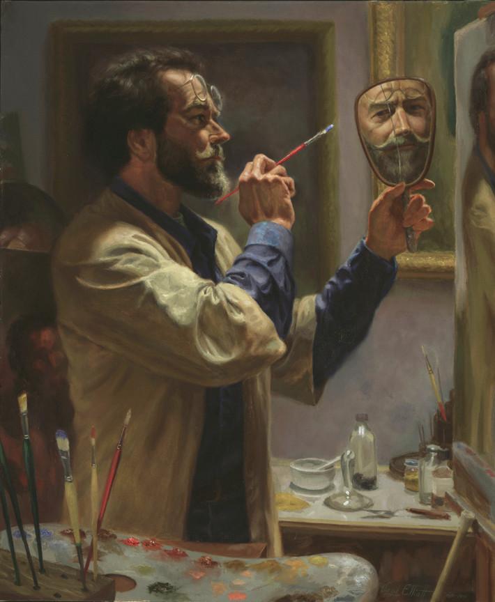 Rublev oil paints blog art lesson introduction silver oak art realism painting of artist creating self portrait