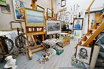 The art studio of Valery Semenov from Voronezh, Russia, visiting artist at L. Nicholas Smith Fine Art